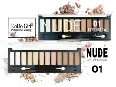 Тени сатиновые Do Do Girl NUDE, 12 цветов, тон 01